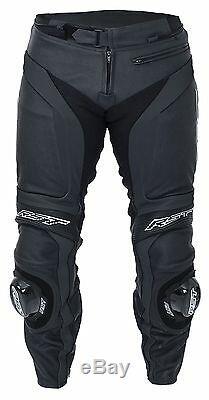 RST 1846 Blade II 2 Leather Motorcycle Motorbike Trousers Black Regular Leg 2846
