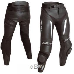 RST Blade Black Leather Motorcycle Motorbike Sports Race Trousers Pants