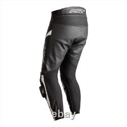 RST Tractech Evo 4 Leather Sports Motorcycle Motorbike Trousers Black / White