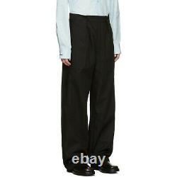 Raf Simons Black Twill Wide Leg Pants FW 19