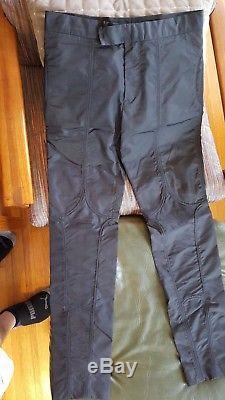Raf Simons Deep Black Skinny Motorcycle Pants, Sz 48, NWT
