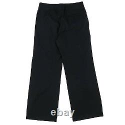 Raf Simons Ss2002 02ss Cotton Waistband Pleated Pants Black Archive Ss02 48 / 46