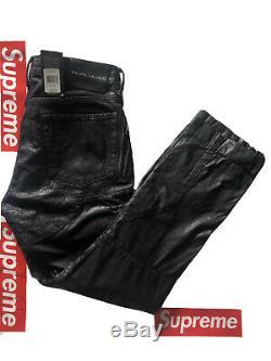Ralph Lauren Black Label Liquid/Waxed Jean Denim Biker Moto RRL Rare 32/30 $495