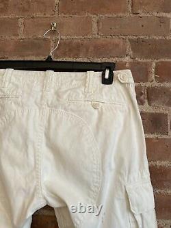 Ralph Lauren Black Label Mens Cargo Pants, Sz 33 X 32, White Ice Coated