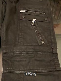 Ralph Lauren Black Label Moto Biker Sz 34 Mens Pants Rust Brown New With Tags