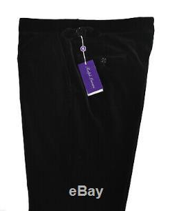 Ralph Lauren Purple Label Black Velvet Dress Pants New $695