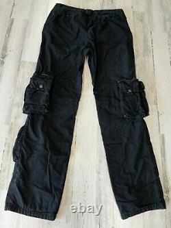 Ralph Lauren Purple Label Cargo Military Pants 34x34 Black Paratroop Flight