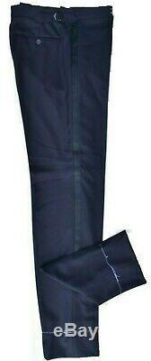 Ralph Lauren Purple Label Italian Men's Black Tuxedo trousers wool Unfinished