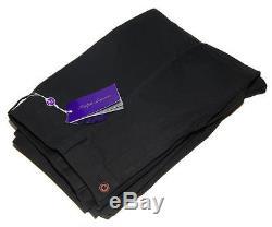 Ralph Lauren Purple Label Mens Flat Front Dress Cotton Pants Black Italy 30