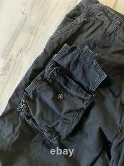 Ralph Lauren Purple Label Military Cargo Pants 34x33 Black Paratroop