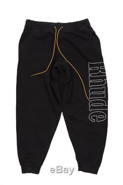 Rhude Embroidered Logo Drawstring Sweatpants Size XXL Rhuigi Los Angeles