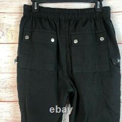 Rick Owens Babel Black Bahaus Cargo Pants Men's Sz Large US RU20S938-CY A006