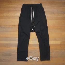 Rick Owens Black Drawstring Pants TE 48