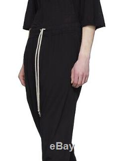 Rick Owens DRKSHDW Black Drawstring Prisoner Pants Sweatpants (Sz S) RRP £320