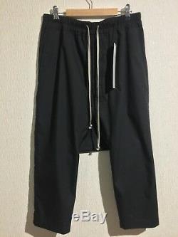 Rick Owens Drawstring Cropped Pants sz 48