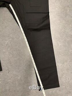 Rick Owens Drkshdw $885 SALE Men's Creatch Black Cargo Pants 36 Size