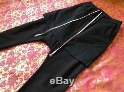 Rick Owens Drkshdw men pants kilt black futuristic style size L from runway show
