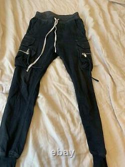 Rick Owens Men's Black Side Pockets Creech Cargo Pants Size US 30 / EU 46