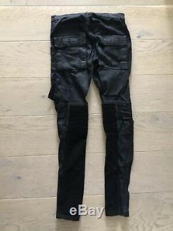 Rick Owens Mens Memphis Patch Pants Size 28 Black Wax Cotton