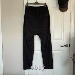 Rick Owens NWT 21ss Black Drawstring Cargo Pants Size S