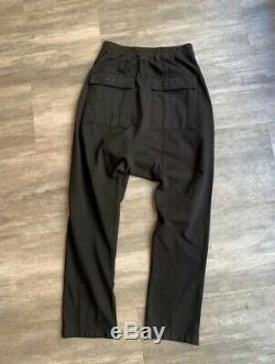Rick Owens Pants Drawstring Berlin SweatPants Size Large Black