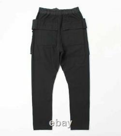 Rick Owens Phlegethon Ss21 Drkshdw Creatch Cargo Drawstring Pants Black XL