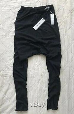 Rick OwensDRKSHDW MSRP $895 Men black stretch drop crotch harem pants size M