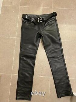 Rob leather slim fit jeans (mens) W 32 /33 inches L 33/34