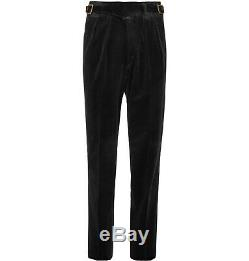 Rubinacci Manny Gurkha Trousers 48IT Waist 32 Black Corduroy BNWT Mr Porter