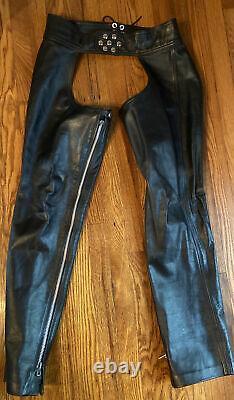 Rubio Custom Leather Chaps Size 38-39 Waist kink fetish gay