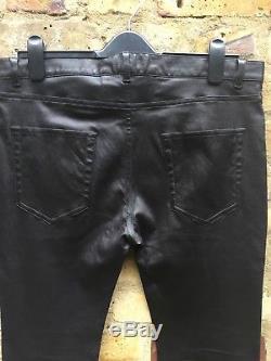 SAINT LAURENT Black Skinny-Fit Leather Pants Trousers
