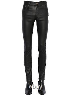 SAINT LAURENT Faux Leather Trousers pants polyurethane PU PVC vegan yves YSL