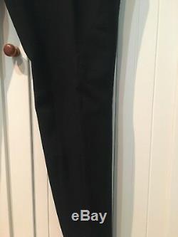 SAINT LAURENT Pants Galife Tapered in Black Wool, 32