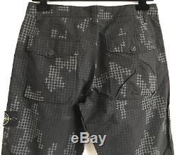 STONE ISLAND Grid Camoflage Trousers Size W32