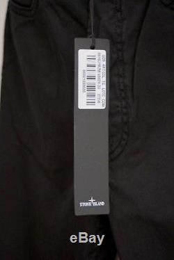 STONE ISLAND TYPESL Slim-Fit Black Cotton Trousers W34 Certilogo RRP £175