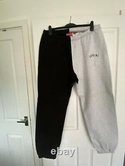 SUPREME Tracksuit Bottoms Size XL Stunning Condition Black & Grey