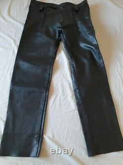 Sailor Front Heavy Leather Jeans by Expectations London Gay Int 40w BLUF VGC
