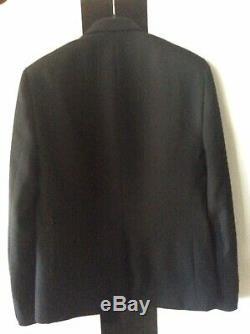 Saint Laurent Suit Designer Authentic Eu48 Black Men Wool Uk38 New Jkt+trousers