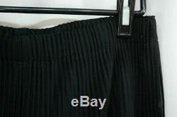 Special Price HOMME PLISSE ISSEY MIYAKE Black Men's Cropped Pants size3 284 1869