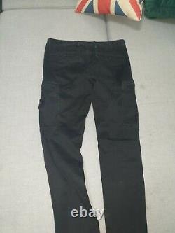 Stone Island Black Cargo Trousers Pants Size 32