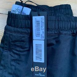 Stone Island Black Garment Dyed Paracadute Cargo Trouser Pants Large 34 BNWT