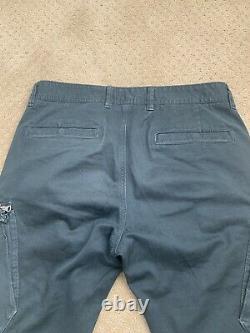 Stone Island Broken Twill Stretch Cotton Slim Zip Cargo Pants Black 31