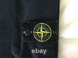 Stone Island Fleece Pants. Mens Size Medium. Black. Used. Genuine