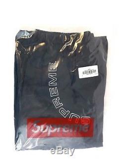 Supreme Corner Arc Track Pant Black Mens Size M SS 18 New Box Logo TNF pants