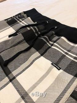 Supreme Plaid Sweatpant Black White New Box Logo