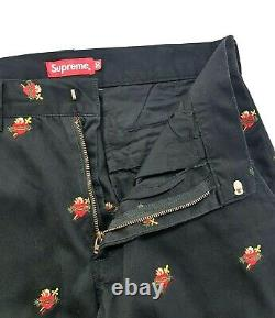 Supreme Sacred Hearts Work Pant Black Size 30 Mens FW17