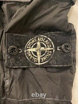 Supreme X Stone Island Crinkle Reps Paintball Camo Black Pants Medium