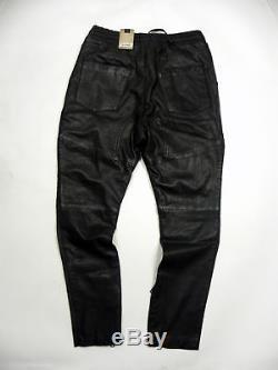 TIGHA Bill Black Men's Leather pants Motor Size 33 M