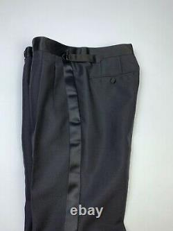 TOM FORD Black Pants Size IT 46 (S) Men's Wool Mohair Formal Trousers RRP 1080