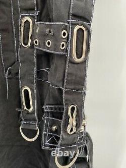 TRIPP NYC Convertible Pants Size XL Black Gothic Grunge Bondage Vintage Used